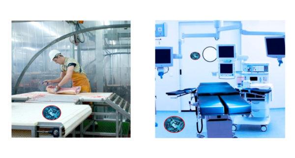 desinfección en industria alimentaria y quirofanos