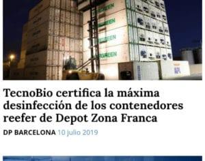 Tecnobio desinfección contenedores frigoríficos