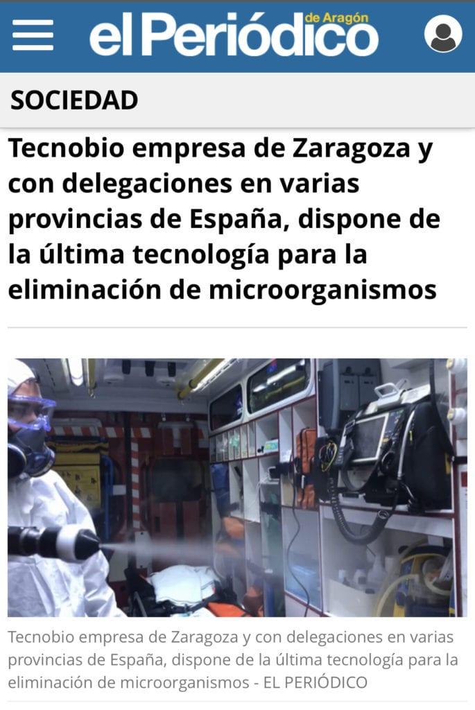 Tecnobio pulverizacion electrostatica desinfeccion de superficies
