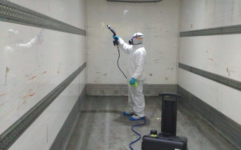 Desinfección de contenedores frigoríficos
