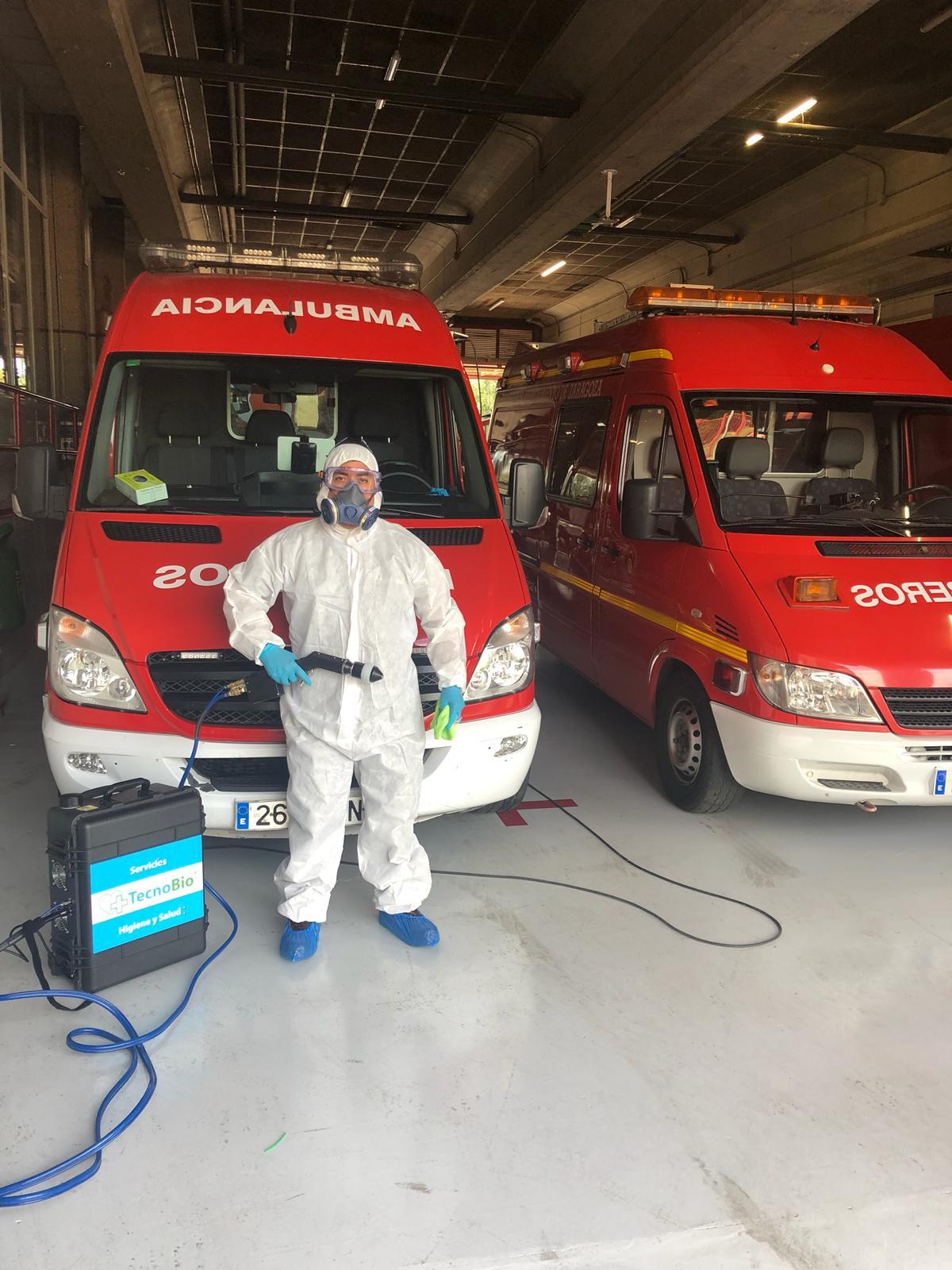 desinfeccion corovirus ambulancias