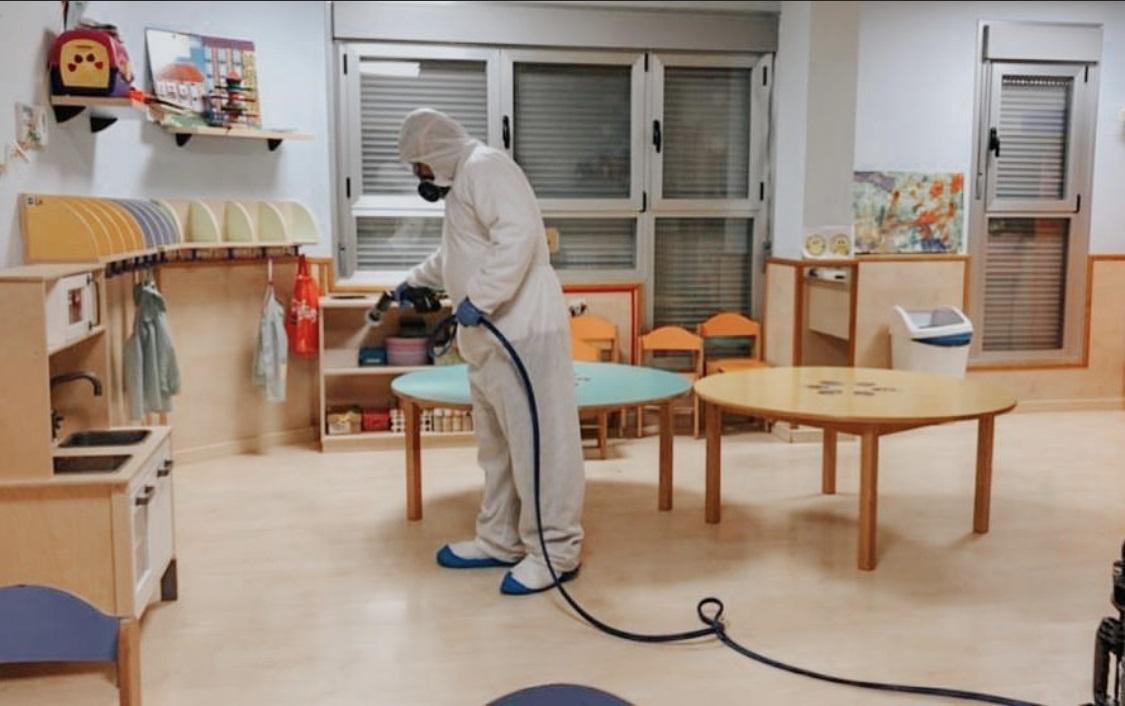 desinfeccion coronavirus colegios guarderias