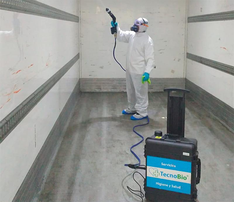 Desinfección de cámaras de congelación